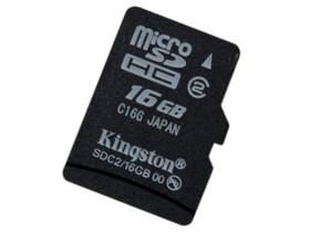 金士顿Micro SDHC卡 Class2(16GB)