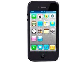 摩米士Apple iPhone 4 软硬双色套(实色黑边+透明底色)