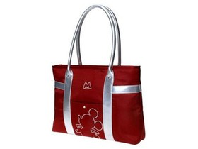 迪士尼101057 13.3 14寸单肩电脑包(红)